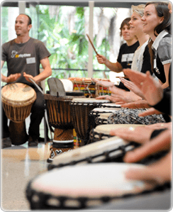 Lower Employee Stress with Corporate Drumming